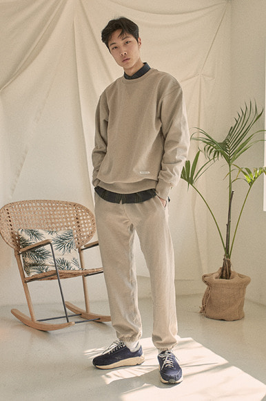 Classic Sweat Shirts [Beige]