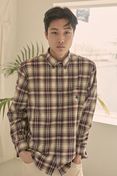 Sealion - Natural Flannel Check Shirts [Red]