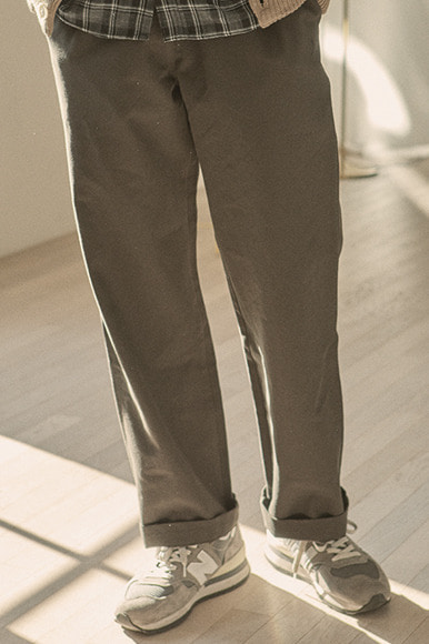 Easy Wide Pants [Khaki]