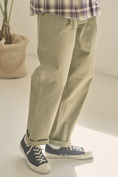 One Tuck Easy Pants [Khaki]