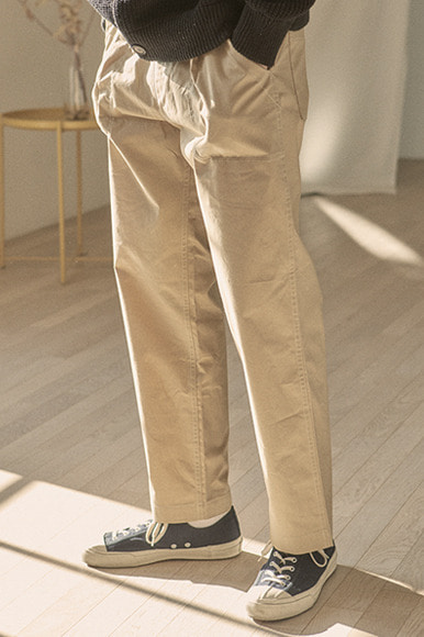One Tuck Easy Pants [Beige]