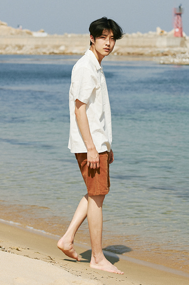Linen Resort Shirts [Withe]