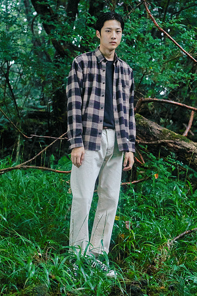 Square Vintage Check Shirts [Beige]