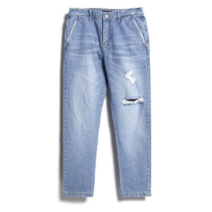 "XERO - Washed Denim Trousers ""Knee Rips"""